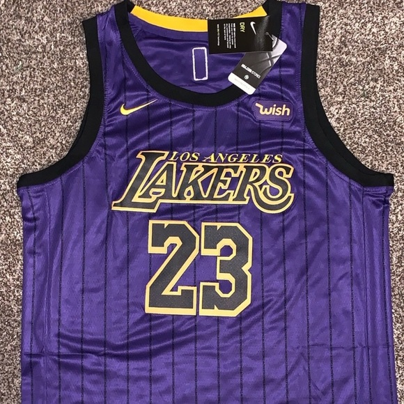 on sale 7a38b ee787 NWT Lebron James Los Angeles Lakers Jersey